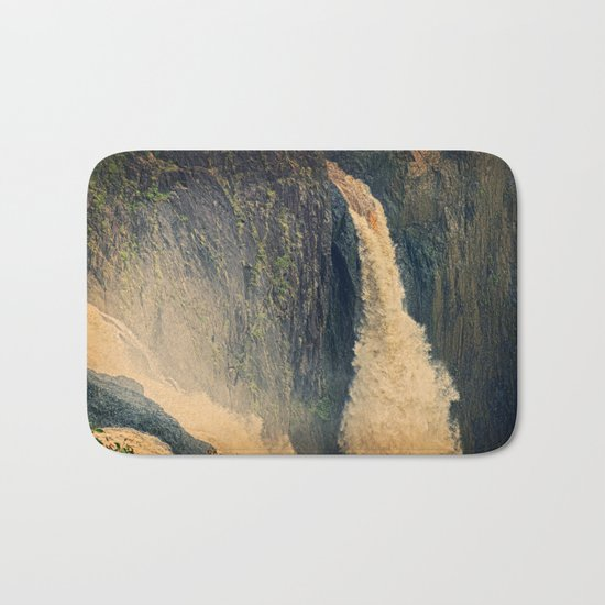 Barron Falls in retro style Bath Mat