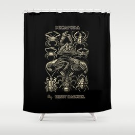 """""""Decapoda"""" from """"Art Forms of Nature"""" by Ernst Haeckel Shower Curtain"""