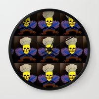 chef Wall Clocks featuring chef by Albano Juliano