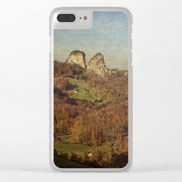 Twin rocks Clear iPhone Case