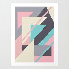 Delicious retro geometric Art Print