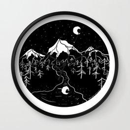 Moon Mountains Wall Clock