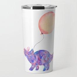 Tie-dye Triceratops Travel Mug