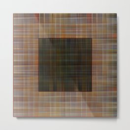 Patched plaid tiles pattern Metal Print