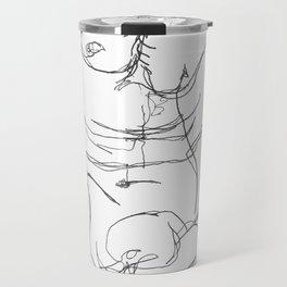 Male Torso Travel Mug