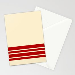 Wheat Maroon Wall Stripes Stationery Cards