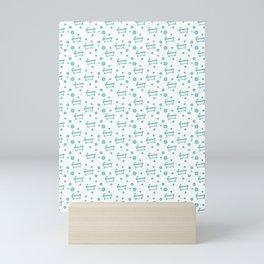 Rub a dub dub, bubbles and a bathtub (white) Mini Art Print