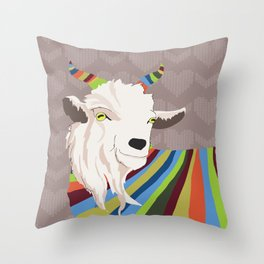 Sweater Goat Throw Pillow