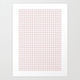 Graph Grid Pink Art Print