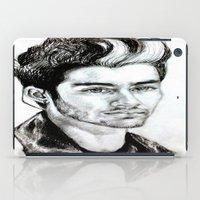 zayn malik iPad Cases featuring Zayn Malik drawing by Clairenisbet