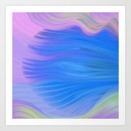Moody Blue Melody Art Print