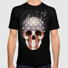 Skull LARGE Mens Fitted Tee Black