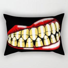 Bullet Teeth Rectangular Pillow