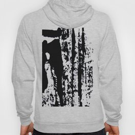 Blank: a minimal black and white linoprint Hoody