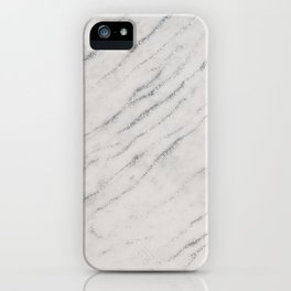 Marble Silver Glitter Glam #1 #shiny #gem #decor #art #society6 iPhone Case