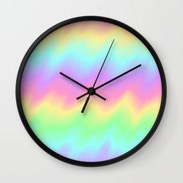 Rainbow Ripples Wall Clock