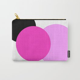Pink Orchid Black Mod Circles Carry-All Pouch