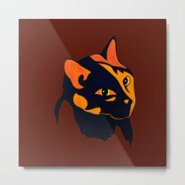 Cat Painting 17 Metal Print