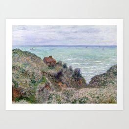 Claude Monet Cabin of the Customs Watch Art Print