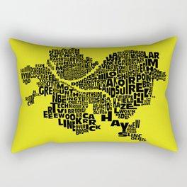 Pittsburgh Neighborhood Typography Map Rectangular Pillow