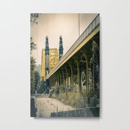 Pittsburgh Manchester Bridge Street View Metal Print