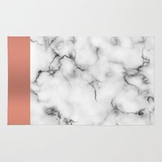 Marble & copper Rug
