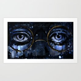 Great Gatsby - Dr TJ Eckleburg - by Hasun Khan Art Print