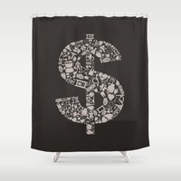 medicine Shower Curtains featuring Medicine dollar by aleksander1