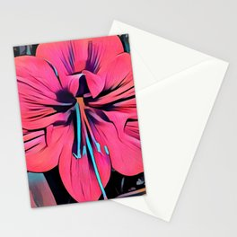 Tropical Clivia Flower in Pop Art Stationery Cards
