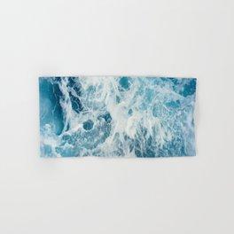Blue Ocean Waves Crashing  Hand & Bath Towel