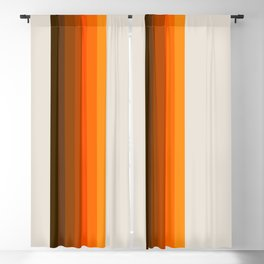 Retro Golden Rainbow - Straight Blackout Curtain