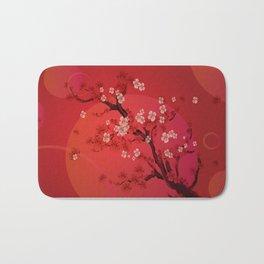 Kirschblütenzweig - Cherry blossom branch Bath Mat