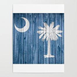 South Carolina State Flag Barn Wall Print Poster