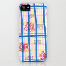 Naval Gingham iPhone Case