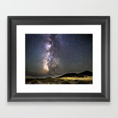 Milky Way in Almo, ID Framed Art Print