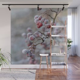 Winter Berry Wall Mural