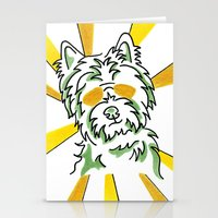 westie Stationery Cards featuring Westie, fun, crazy, whimsical by ClarityArtDesign