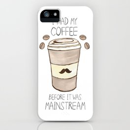 Hipster Coffee iPhone Case