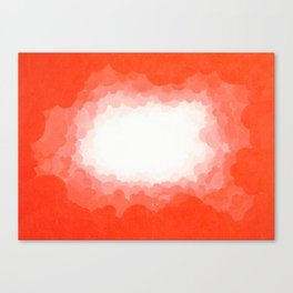 Cadmium Red Clouds Canvas Print