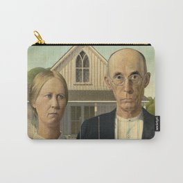 Iconic American Gothic by Grant Wood Carry-All Pouch