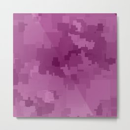 Radiant Orchid Square Pixel Color Accent Metal Print