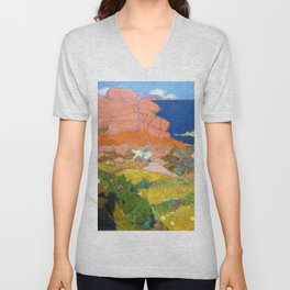 Saint George With Red Rocks - Digital Remastered Edition Unisex V-Neck