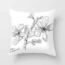 Antelope Bitterbrush Throw Pillow