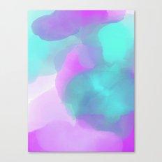 Watercolor Teal Purple Pink Canvas Print
