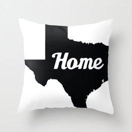 Home Texas Throw Pillow
