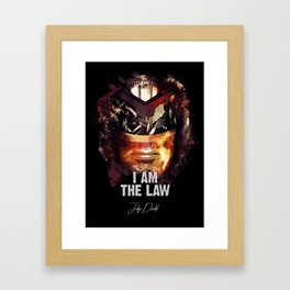 Judge Dredd - Sylvester Stallone Framed Art Print