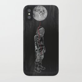 Moon Balloon 02 iPhone Case