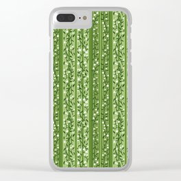 Guac and Stripes Clear iPhone Case