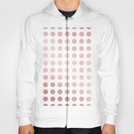 Simply Polka Dots in Rose Gold Sunset and White Hoody