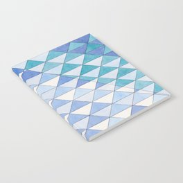 Triangle Pattern No. 9 Shifting Blue and Turquoise Notebook